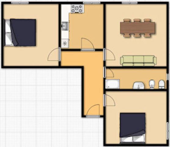 Appartement 3 pièces 4 personnes TRANI